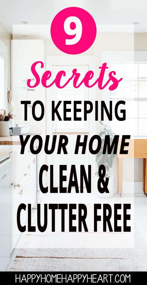 Struggling to keep your house clean? These cleaning hacks will help you keep your home clean & clutter free. Pin these cleaning tips now so you can read later! #CleaningTips #CleaningHacks #CleanHouse