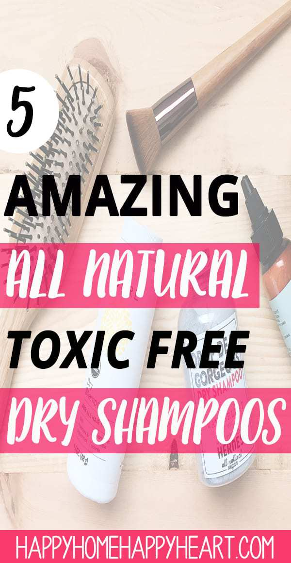It can be hard sometimes to find all natural beauty products that work well. Dry shampoo is no exception. These all natural dry shampoos are amazing & completely toxin free! #ToxinFree #NaturalProducts #DryShampoo