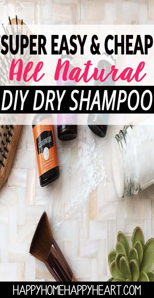 Dry shampoo can be full of nasty chemicals. This DIY dry shampoo recipe works great & is toxin free! DIY beauty products are a great way to eliminate toxic chemicals from your home! #DIYBeautyProducts #DryShampoo #DIYDryShampoo #NaturalLiving