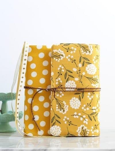 Yellow handmade bible cover