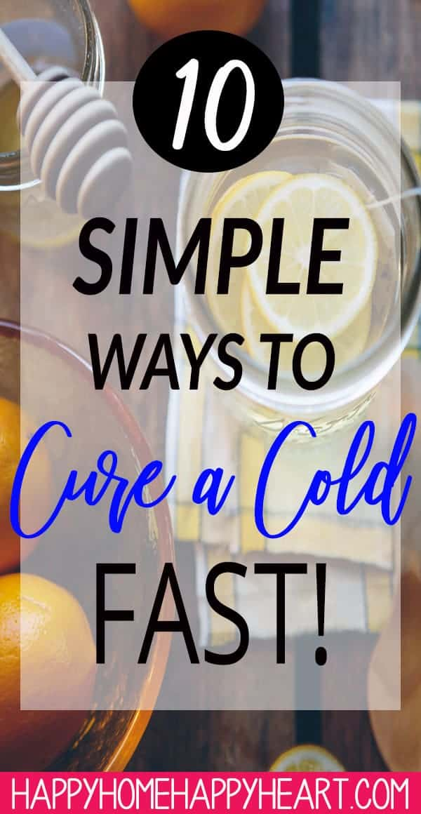 Colds are no fun! Cure your cold fast with these natural cold remedies. They'll help you to feel better fast! These are great all natural cold remedies for kids too! #HealthyLiving #ColdCure #ColdRemedy #NaturalMedicine #HolisticHealing