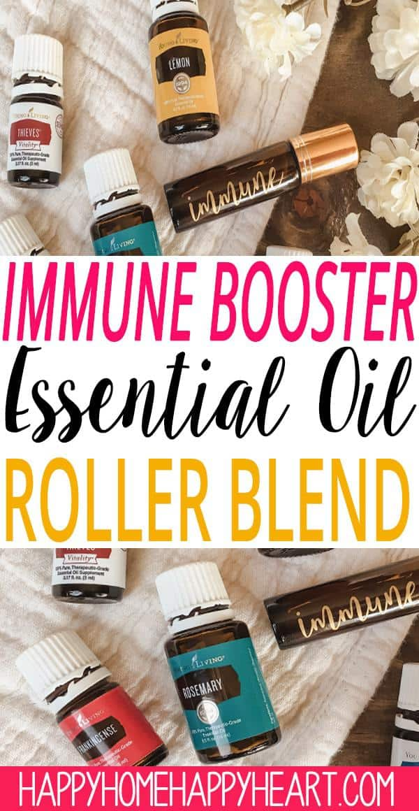 With the cold & flu season in full swing everyone wants to know how to not get sick. This immune booster essential oils roller will help you stay healthy all year long. It's super simple to make! Check out the recipe for this immune booster essential oils roller blend. #EssentialOils #YoungLiving #ImmuneBooster #HealthyLiving