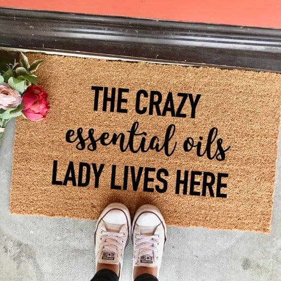 essential oil doormat