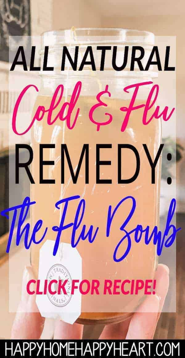 Looking for a natural cold & flu cure? The flu bomb is one of the best all natural cold & flu remedies. It well help you to feel better fast! This DIY flu remedy is all you need to feel better. Click here to get the flu bomb recipe! #NaturalLiving #NaturalRemedy #FluBomb #ColdCure #HealthAndWellness