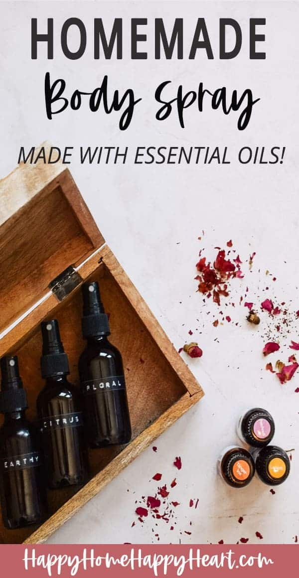 Diy Body Spray With Essential Oils Happy Home Happy Heart