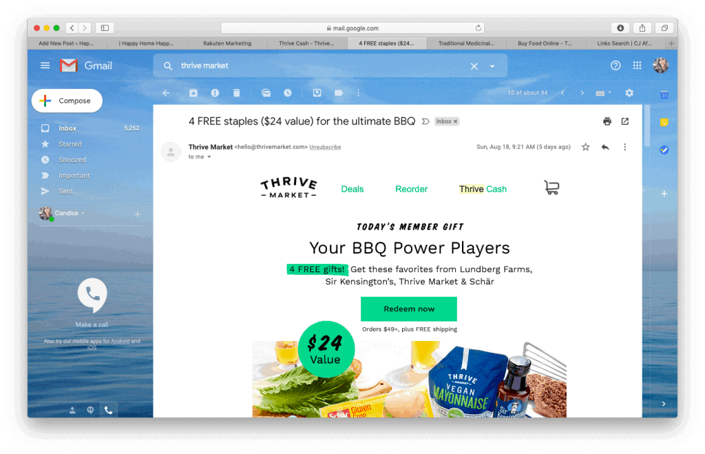 Thrive Market promo email