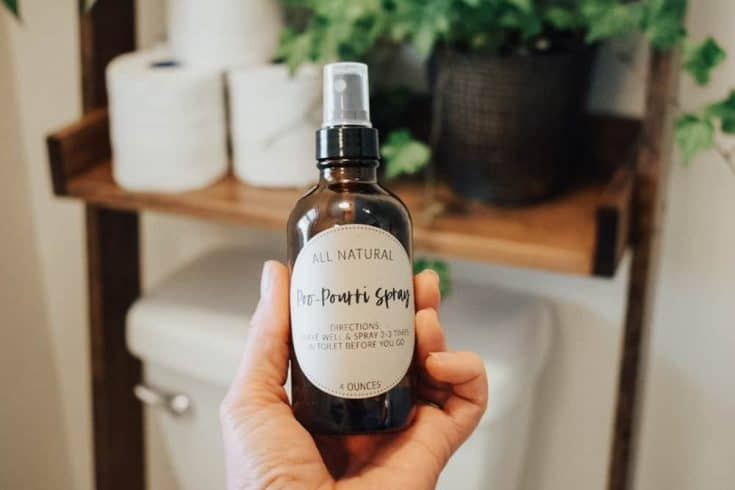 Homemade Poo Pourri Spray with Essential Oils