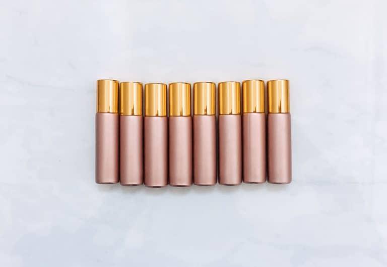 rose gold roller bottles