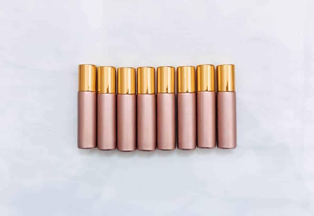 rose gold roller bottles