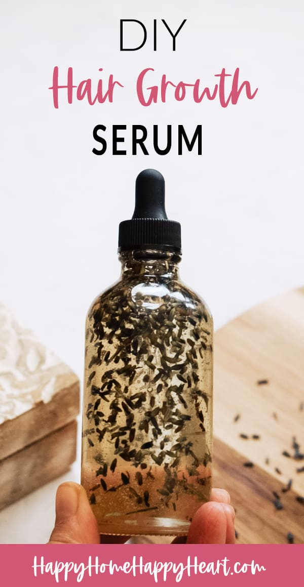 woman holding all natural diy hair growth oil