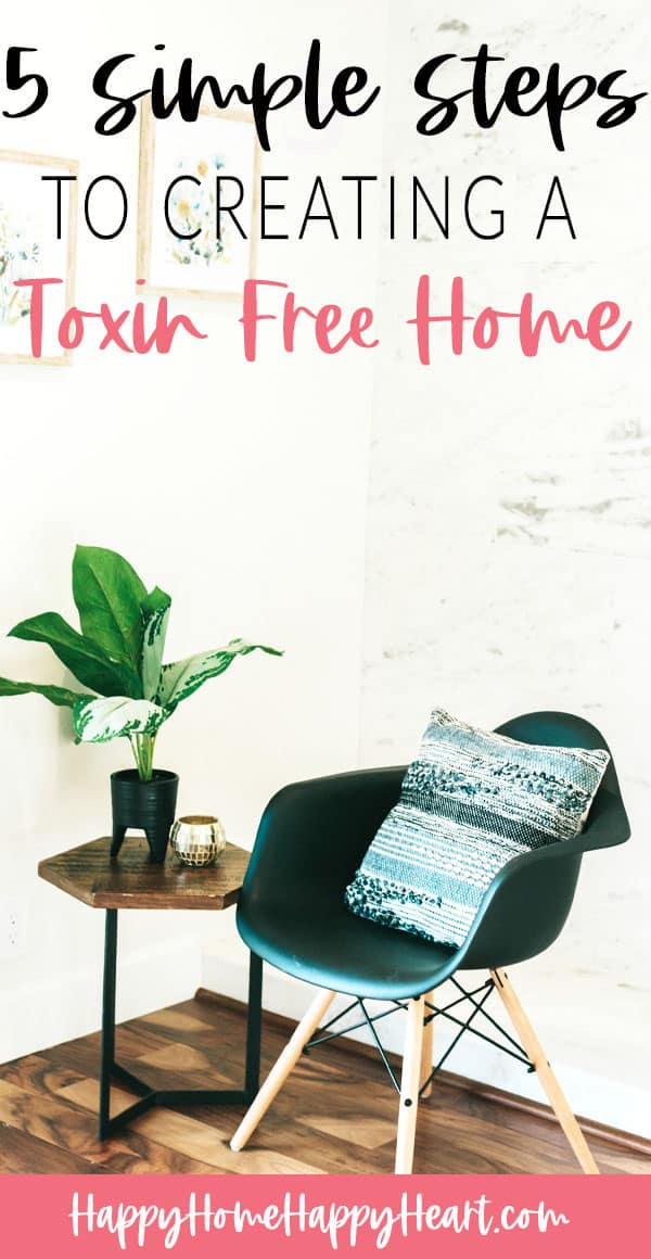 5 Simple Steps To A Toxin-Free Home Pinterest pin