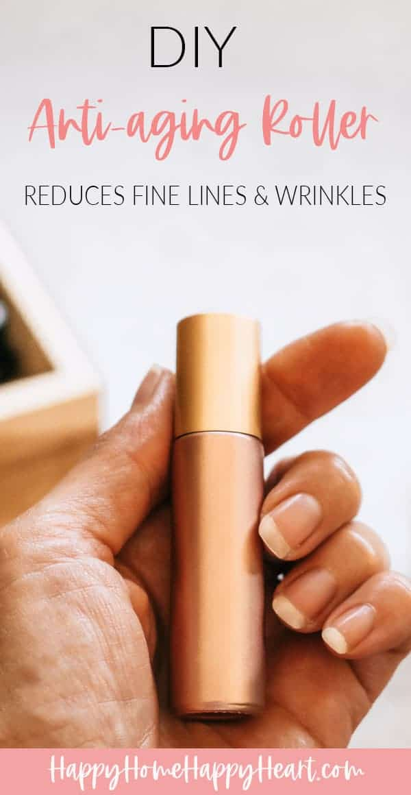 person holding diy anti-aging roller blend
