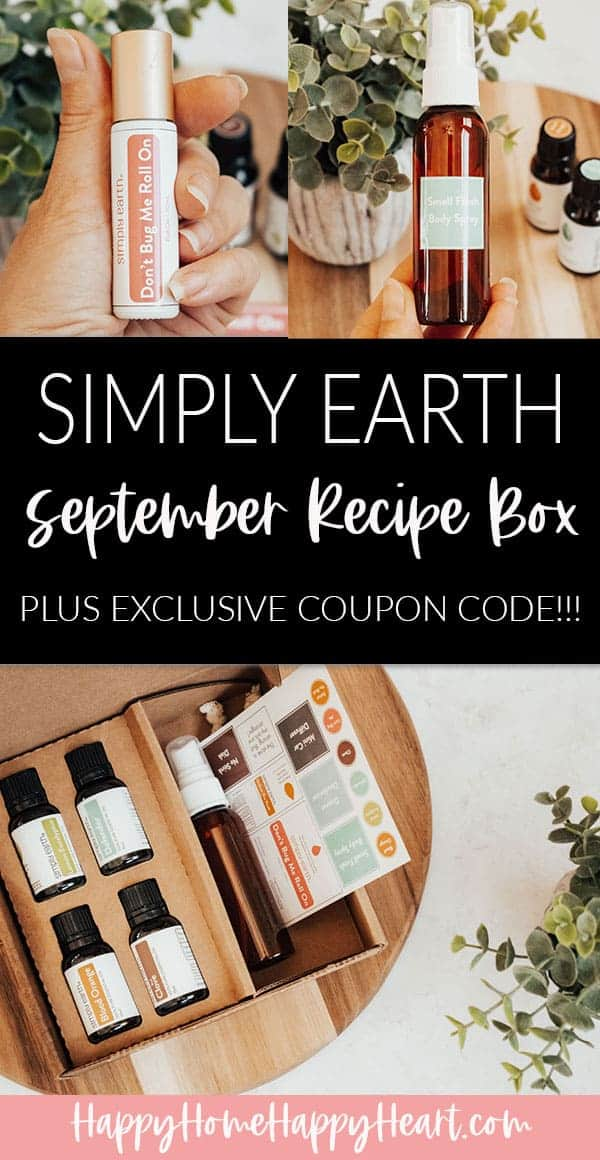 Collage image of the Simply Earth September 2020 recipe box