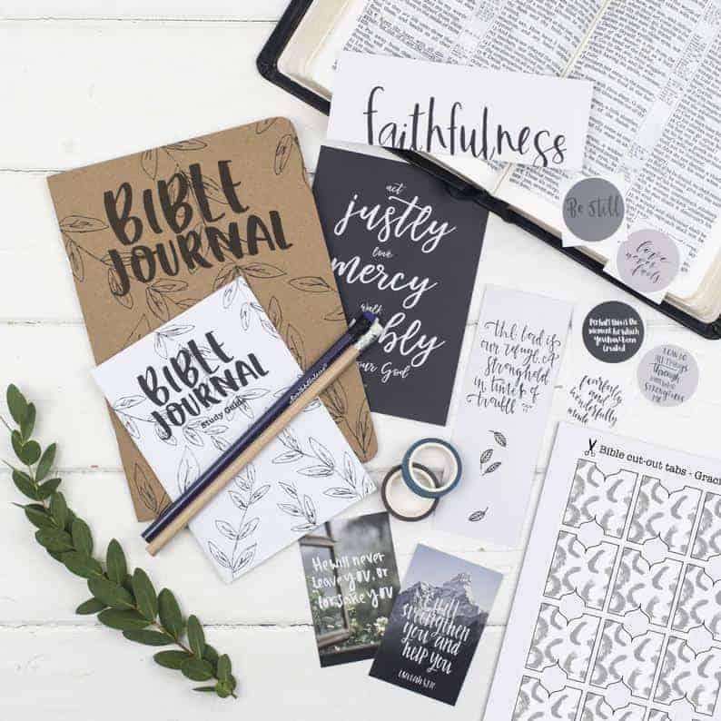 Bible journal kit on Etsy