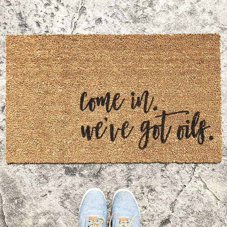 essential oil lover doormat