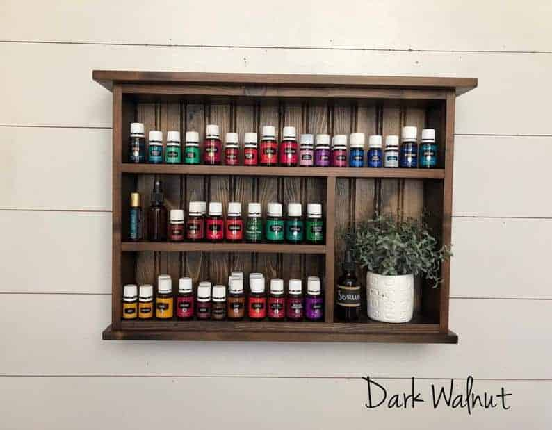 essential oil storage shelf