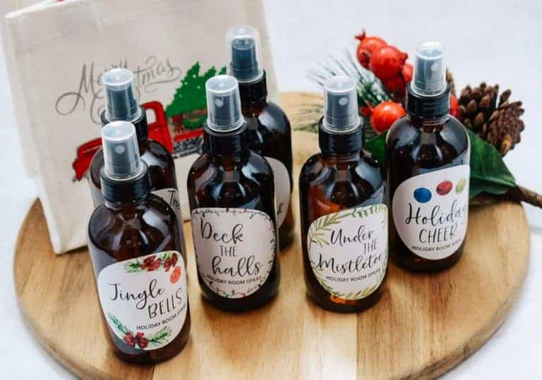 Holiday Room Spray Recipes + Free Printable Labels