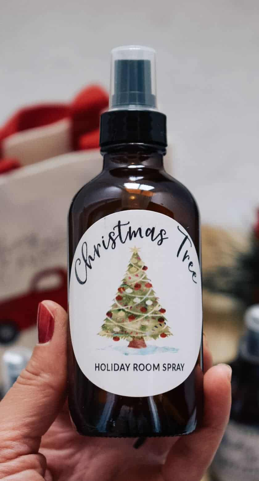 Christmas tree holiday room spray