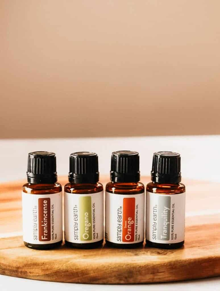 Simply Earth essential oils.
